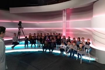 Wizyta klasy 1 a i 2 b do TVN w Krakowie