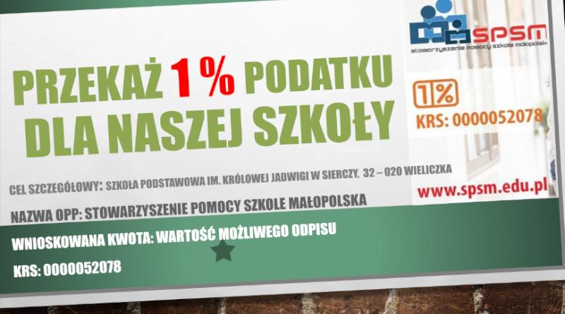 1 % dla naszej szkoły