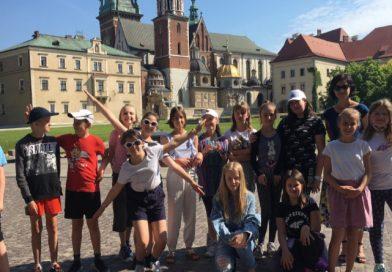 Klasa 5b na Wawelu